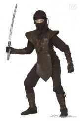 Zwart en bruin ninja kostuum voor kinderen