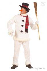 Grappige sneeuwpop outfit voor mannen