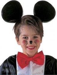 Zwarte muizenoren haarband voor kinderen