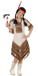 Beige indianenkostuum voor meisjes