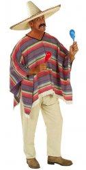 Veelkleurige Mexicaanse poncho voor volwassenen