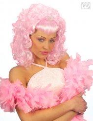 Roze prinsessen pruik voor dames