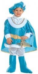 Blauw en goudkleurig prins kostuum voor kinderen