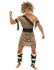 Bruin holbewoner kostuum voor volwassenen