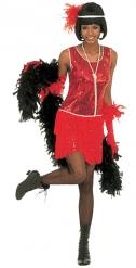Rood lovertjes charleston kostuum voor volwassenen