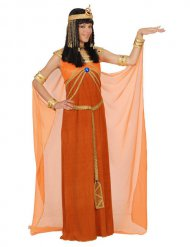 Oranje Cleopatra kostuum voor vrouwen