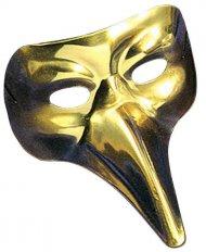 Lang goudkleurig Venetiaans masker voor volwassenen