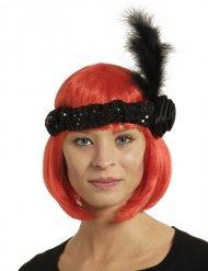 Charleston hoofdband met veer voor volwassenen