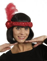 Rode charleston hoofdband voor dames