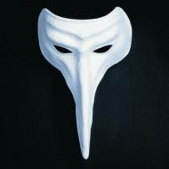 Wit Venetiaans haakneus masker voor volwassenen