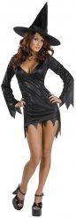 Sexy korte heksen outfit voor vrouwen
