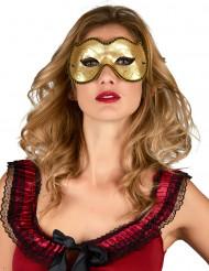 Gouden Venetiaans masker voor volwassenen