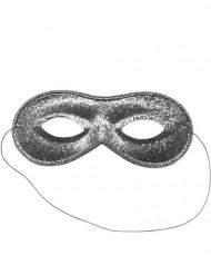 Zilverkleurig Venetiaans glitter masker voor volwassenen