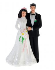 Bruidstaart versiering man en vrouw