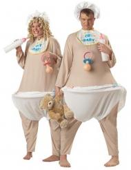 Deluxe enorme baby kostuum voor volwassenen