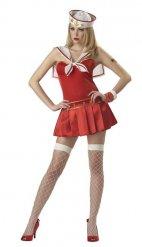 Sexy rode matroos outfit voor vrouwen