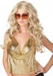 Glamoureuze blonde pruik voor vrouwen