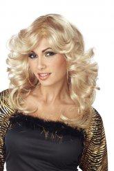 Blonde retro disco pruik voor vrouwen