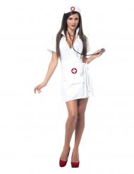 Kort verpleegster kostuum voor vrouwen