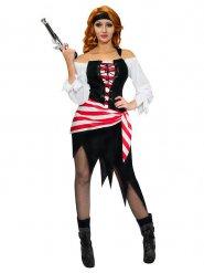 Driekleurige piraten kostuum voor vrouwen