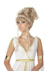 Blonde Griekse godin pruik voor vrouwen