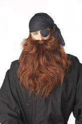 Bruine woeste piraat baard