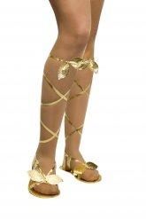 Goudkleurige Grieks-Romeinse sandalen voor vrouwen