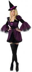 Sexy paars heksen kostuum voor vrouwen