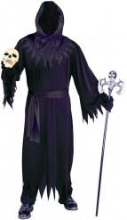 Zwarte reaper kostuum voor mannen