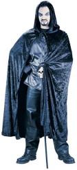 Zwarte fluweelachtige cape voor volwassenen