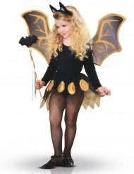 Zwarte en goudkleurige vleermuis set voor meisjes