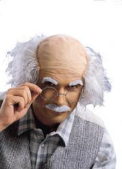 Gekke professor pruik, snor en wenkbrauwen