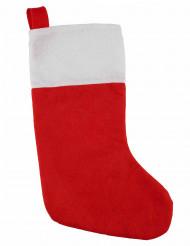 Rode en witte kerst sok