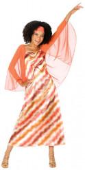 Veelkleurige disco koningin outfit voor vrouwen