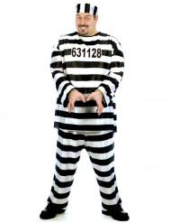Gevangenis kostuum voor mannen - grote maat