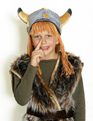 Fluweelachtige viking helm voor kinderen