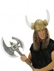 Zilverkleurige vikingbijl