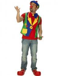 Veelkleurig clown gilet voor mannen