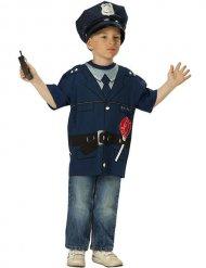 Politie officier tshirt voor kinderen