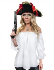 Witte piraten blouse voor vrouwen