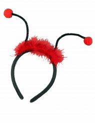Zwart en rood lieveheersbeestje haarband