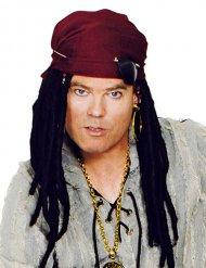 Piratenpruik met bandana en decoraties