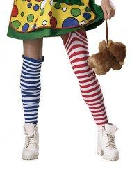 Gestreepte clown sokken voor volwassenen