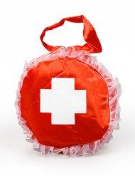 Rode en witte verpleegster handtas