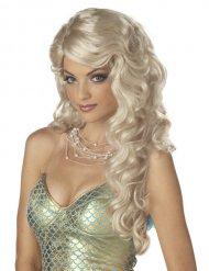 Blonde zeemeermin pruik voor vrouwen