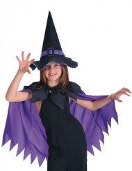 Paarse cape met heksenhoed voor meisjes