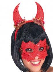 Duivel masker en hoorns voor vrouwen