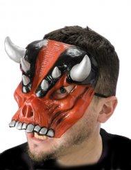 Rood duivel masker met hoorns voor volwassenen
