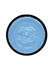 Turkooisblauwe schmink voor lichaam en gezicht