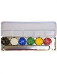 Metalen schminkpalet met 6 kleuren